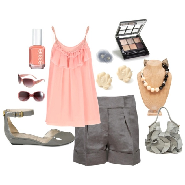 Pink & Gray outfit