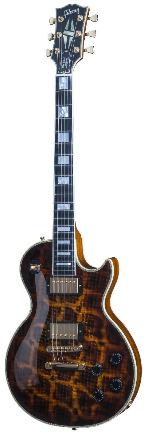 Gibson Les Paul Custom in Snakeskin.