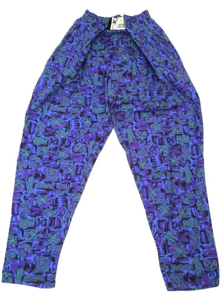 Vintage Today Hawaii MC Hammer Tropical Hawaiian Print Purple Lime Green Pants #TodayHawaii #Pants http://www.ebay.com/itm/Vintage-Today-Hawaii-MC-Hammer-Tropical-Hawaiian-Print-Purple-Lime-Green-Pants-/201185198581