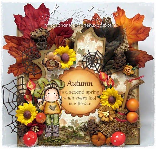 Cards made by Chantal: Oktober challenge Duymelot - Herfstkaart!