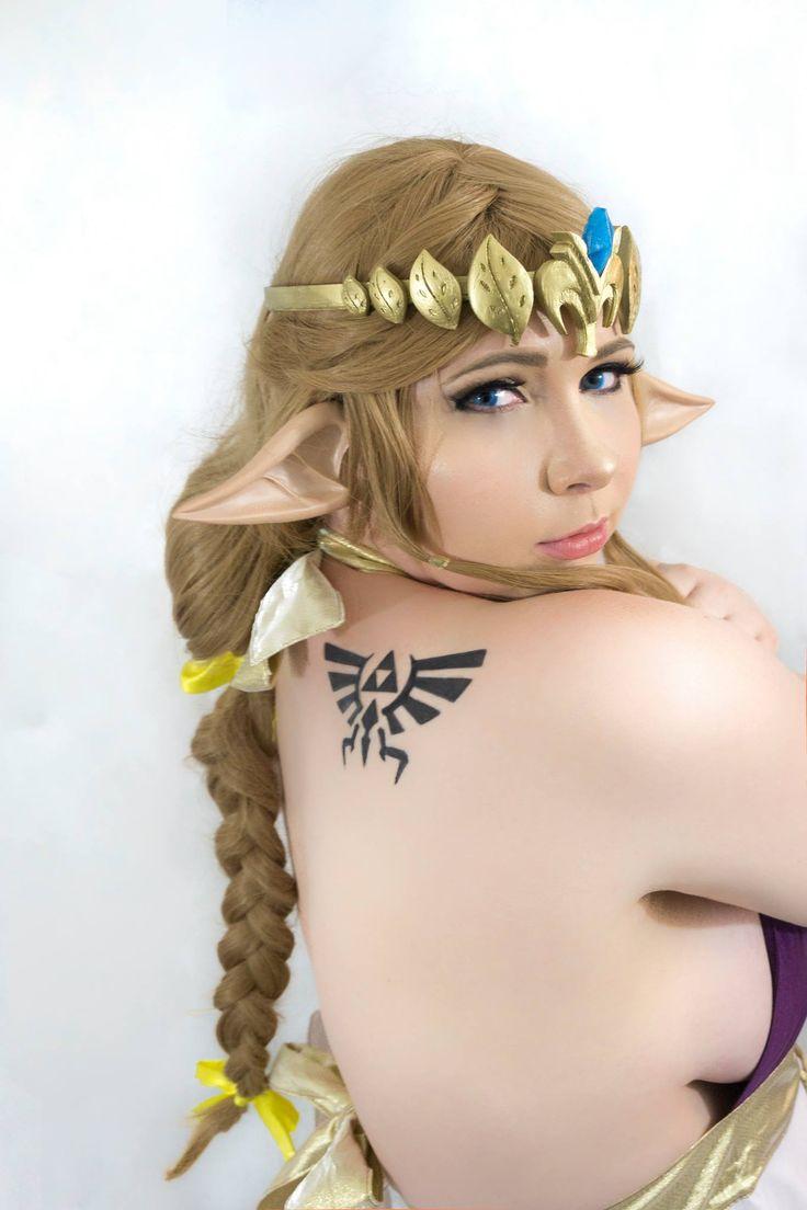 Gabrielle Cooke sexy Zelda cosplay #tattoo #bikini