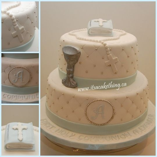 First Communion Cake - CakesDecor
