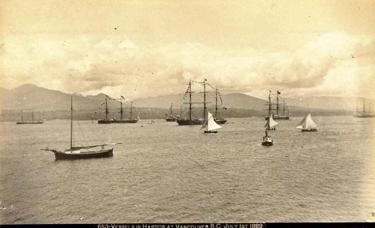 Vancouver Harbour, Monday 1 July 1889