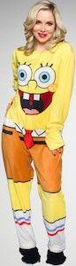SpongeBob Squarepants Adult One Piece Costume Pajama