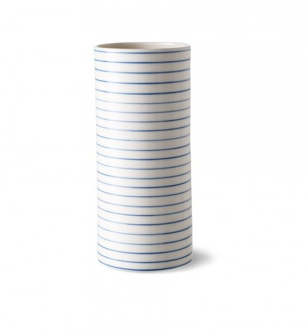 stripes hanthrow vase narrow blue line - stripes hanthrow vase narrow blue line - collections
