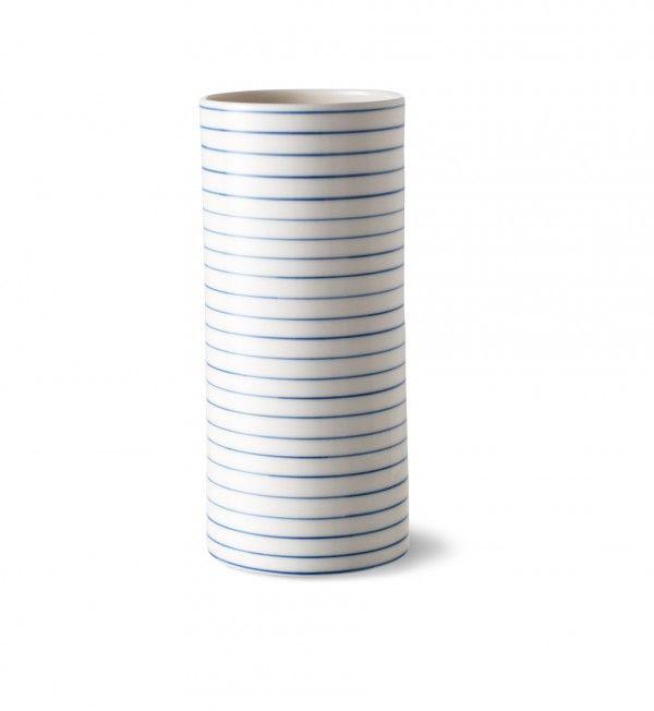 stripes hanthrow vase narrow blue line - stripes hanthrow vase narrow blue line - collections