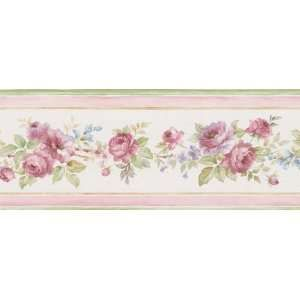 Pink Flower Border Purple and Pink Wallpaper Border in