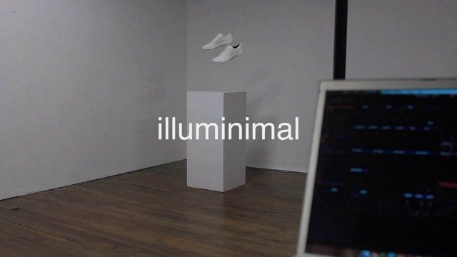 "illuminimal. Self-initiated footwear projection mapping project performed live using a pair of Merrell Bare Access 2 and a pedestal.  ""High ..."
