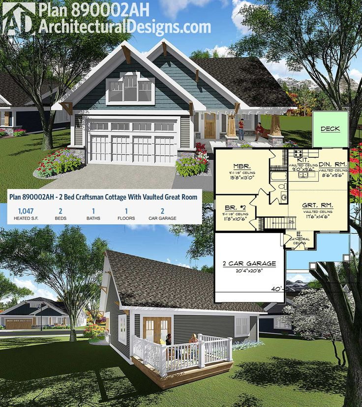 104 best images about bungalow style house plans on for Bungalow plans with garage