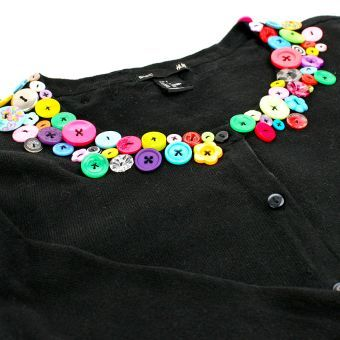 Button Embellished Cardigan