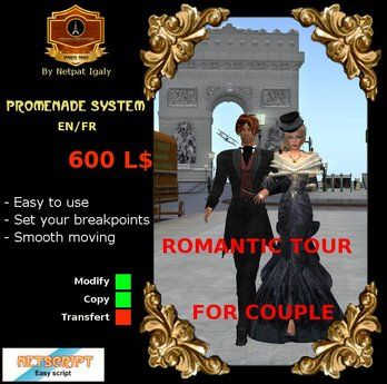 Guided tour promenade for couple