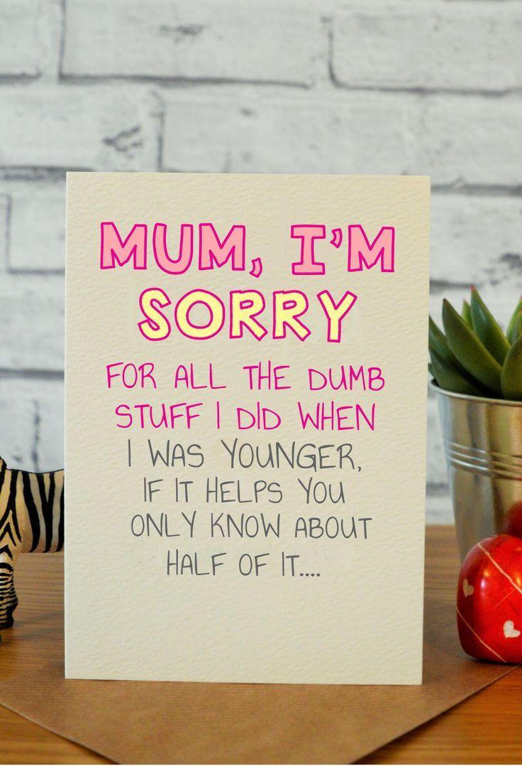 Dumb Stuff In 2021 Birthday Cards For Mom Birthday Cards For Mum Funny Mom Birthday Cards