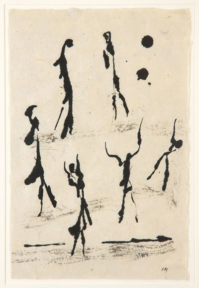 Henri Michaux, dessin à l'encre de Chine                                                                                                                                                                                 Plus