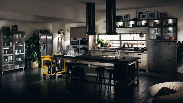 ¡Libertad de interpretación! Los diseñadores de Diesel Social Kitchen han creado para Scavolini un vasto surtido de módulos capaces de fundirse entre sí para crear ambientes siempre originales y exclusivos.