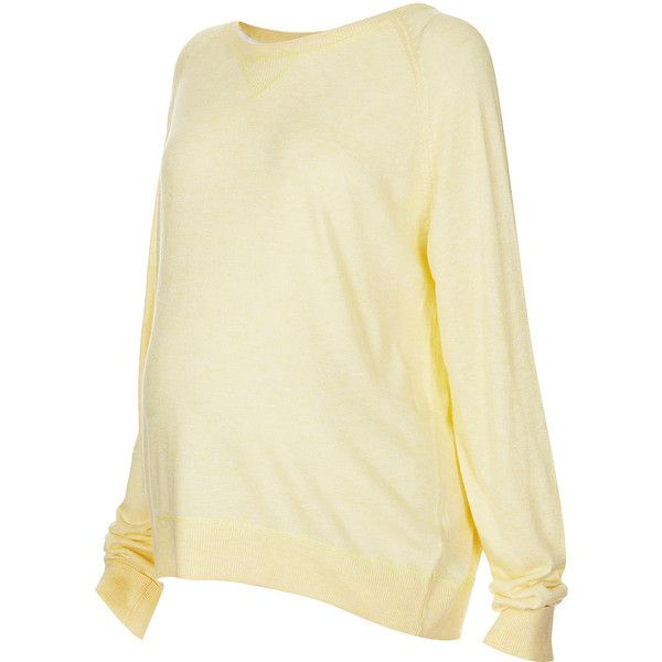 TOPSHOP Maternity Fine Gauge Sweat ($30) ❤ liked on Polyvore featuring maternity and lemon