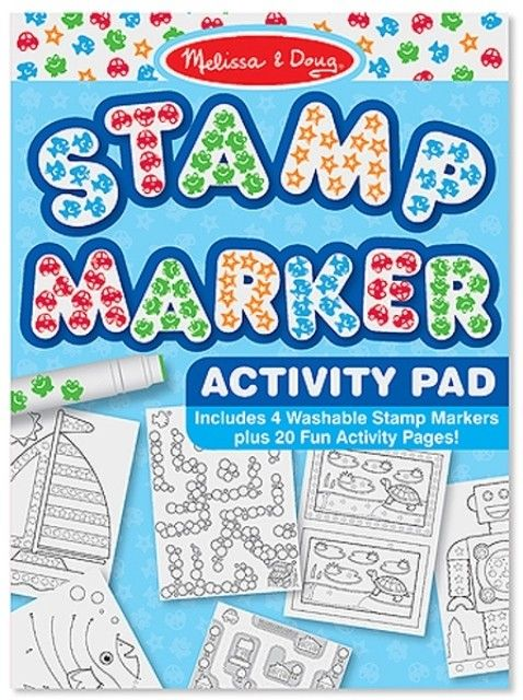 Melissa & Doug - Stamp Marker Activity Pad Blue  #entropywishlist #pintowin  Christmas means lots of time spent out at friends and family's houses so having some portable activities is a must.