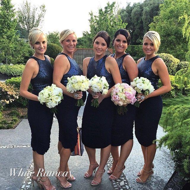 Blue and White Wedding Ideas - Larissa Dress in Navy #whiterunway #bridesmaids #navy #weddings