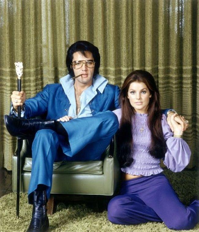Elvis y Priscilla Presley, 1971.