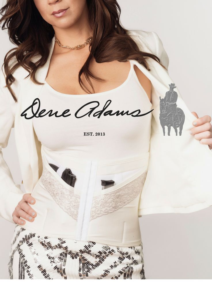 Chic Concealed Carry Corsets by Dene Adams. SLIM Champagne ...