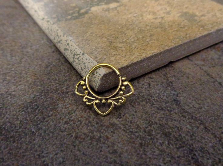 Indian Style Brass Ring For Pierced Nose, Septum, Earring, Cartridge Ring, Tragus Ring Nipple ring, 16G Approx by Purityjewel on Etsy https://www.etsy.com/listing/207075560/indian-style-brass-ring-for-pierced-nose