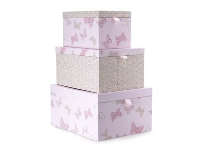 Set of 3 Bella Butterfly Storage Boxes | Laura Ashley
