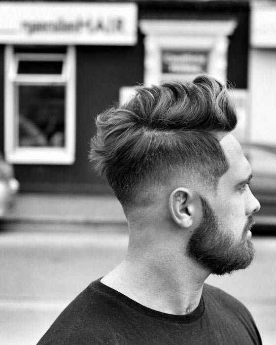 Man With Low Fade Haircut Design