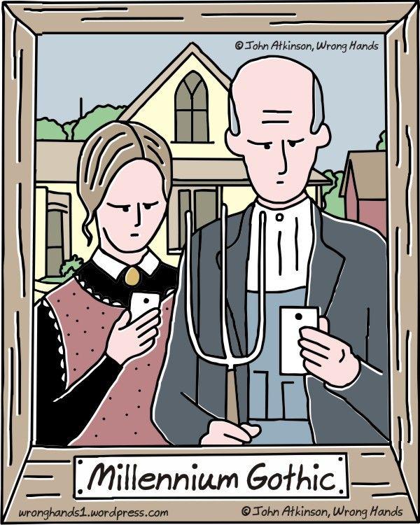 """Millennium Gothic"" - by John Atkinson    ...phones..."