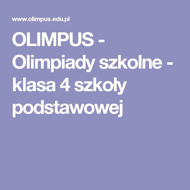 OLIMPUS - Olimpiady szkolne - klasa 4 szkoły podstawowej