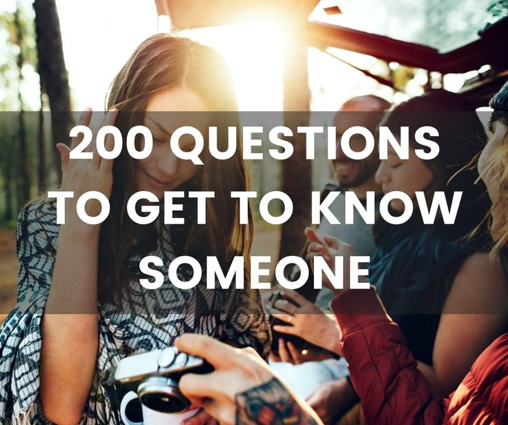 Engaging and interesting questions to get to know someone. Perfect for meeting someone new or just trying to get to know a friend or colleague better.