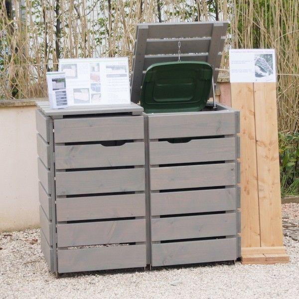 Mülltonnenbox Grau Geölt                                                                                                                                                      Mehr (Diy House Box)