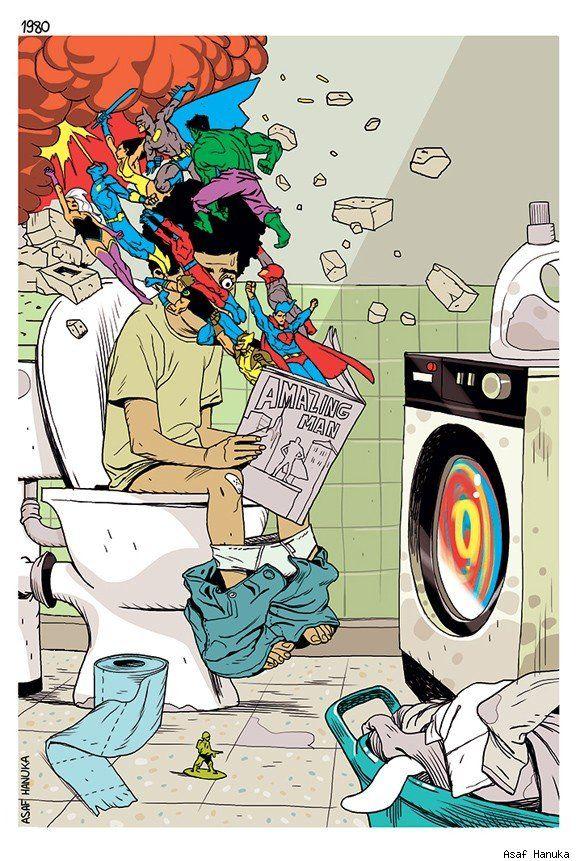 Best Art Ever (This Week) - 04.26.13 - ComicsAlliance | 1980 by Asaf Hanuka