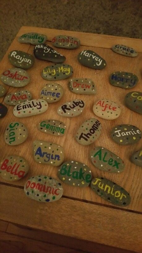 Name stones for self registration.