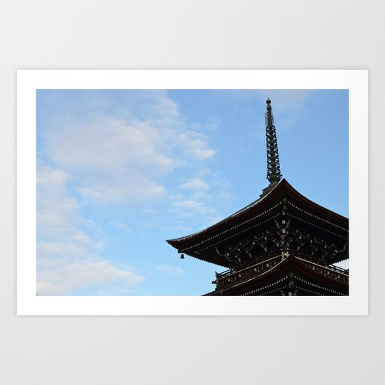 Pagoda in the Sky Art Print by Claire Louise - $15.00