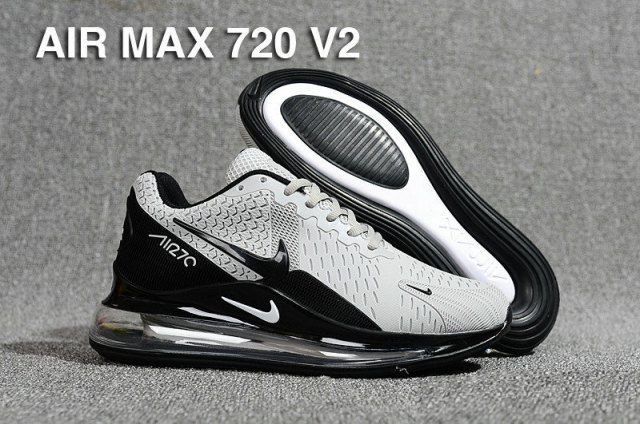 El camarero apodo Frugal  Men's Nike Air Max 720 V2 Kpu Wolf Grey Black Casual Shoes | Nike shoes air  max, Nike air max, Black casual shoes