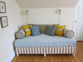 Twin Bed Couch On Pinterest Twin Bed Sofa Diy Twin Mattress Couch
