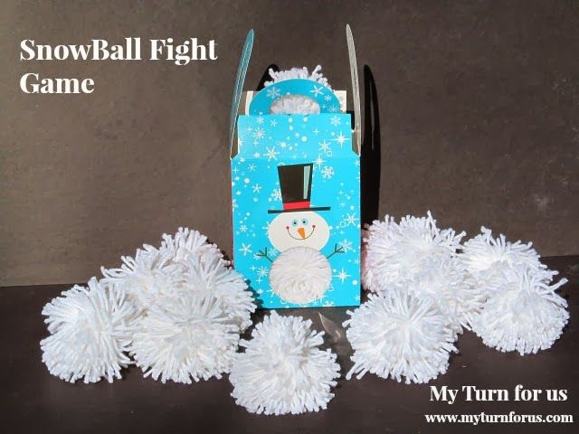 My Turn for us: Snowball Fight Game and Directions for the Clover Pom Pom Maker