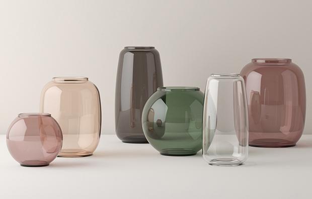 """Vasen """"Form"""" von Lyngby aus Glas"""
