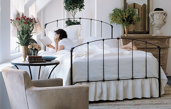 Rutherford Queen Bed Black Iron Iron Bed Frame White Iron
