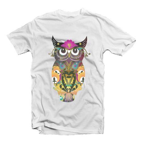 Decorative Owl Kaos dari tees.co.id Oleh Shabby Princess