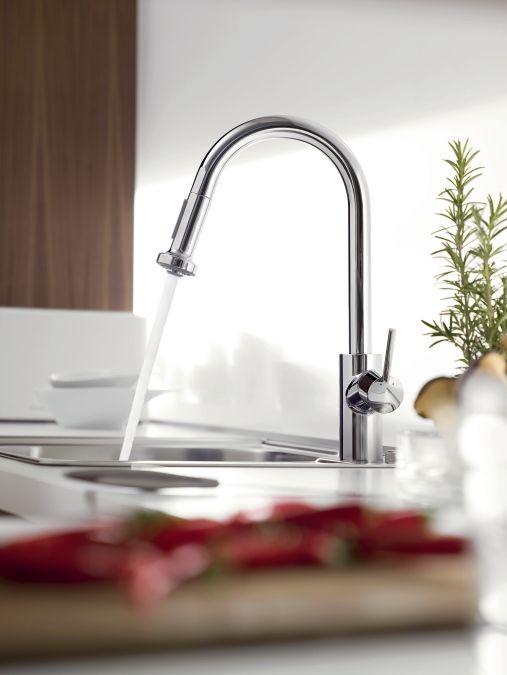 grifo-cocina-extraible-talis-hansgrohe lo podrás comprar en la tienda online terraceramica.es #grifos #grifería #baños #diseño #arquitectura #terraceramica  #cocinas