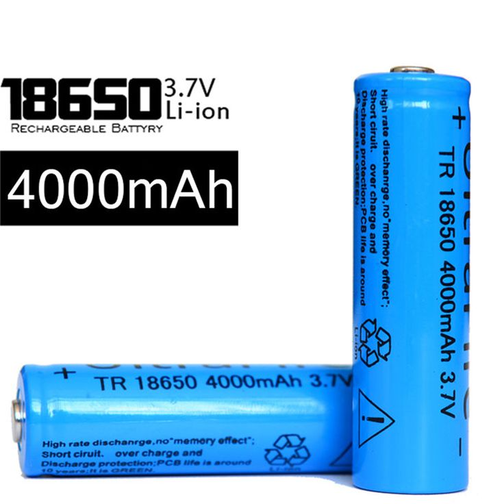 Ten Batteries Of 18650 Li-Ion Battery Rechargeable 4000mah 3.7v Battery Blue Lithium Fit LED E-Book Electronic Products