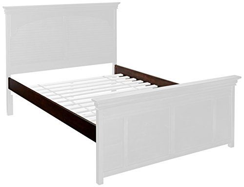 My Home Furnishings Neopolitan Collection 5/0 Queen Hook-on Bed Rails, Merlot |