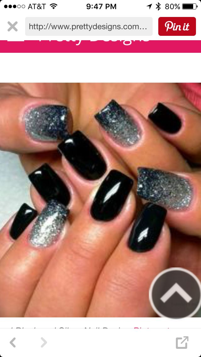 The 8 best New Year\'s Nails images on Pinterest | Fingernail designs ...