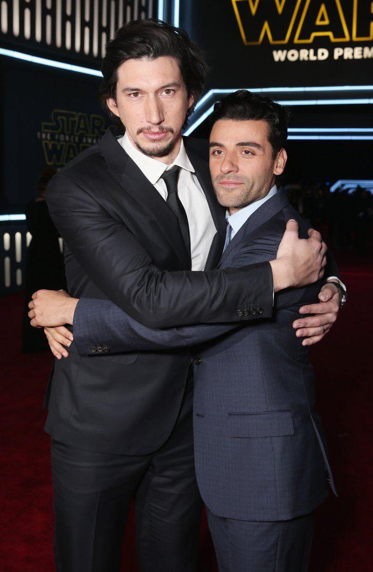 Pin for Later: La Force Était Avec les Acteurs Lors de L'avant Première Mondiale de Star Wars Oscar Isaac et Adam Driver