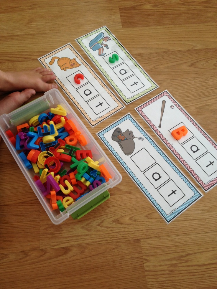 Word Family picture cards. Ideas for all one million of the magnetic letters in my classroom.