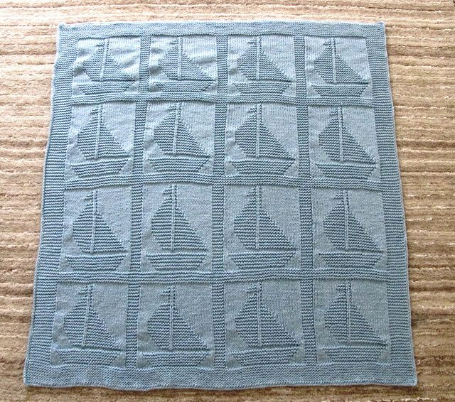 Pattern: Come Sail Away baby blanket