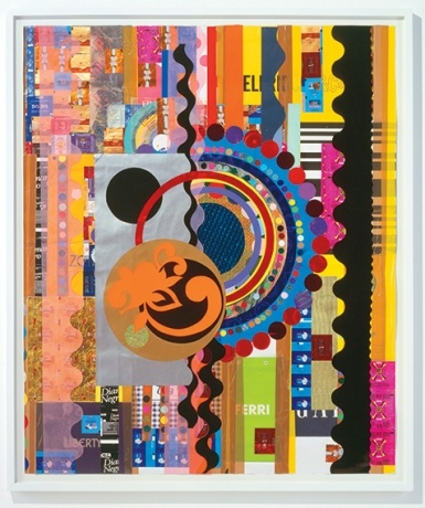 """Slideshow: Artist Dossier: Beatriz Milhazes  """"Diamante negro,"""" 2007, one of Milhazes's mixed-media works. Prices for her collages range from $100,000 to $200,000.[content:shareblock]Courtesy the Artist, James Cohan Gallery, Galerie Max Hetzler, Stephen Friedman Gallery and Galeria Fortes Vilaca[content:advertisement-center]"""