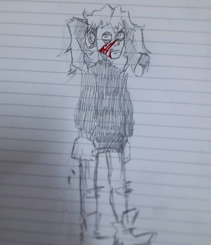 Got bored in class and i started to draw Sally Face. #traditionaldrawing #sallyface #creepy #horror #mask #traditionalart