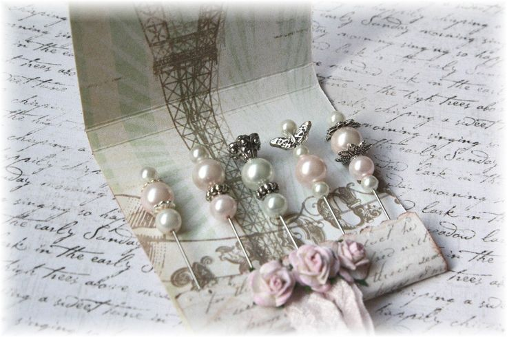 Mini Matchbook Stick Pins Shabby Chic for Scrapbooking or Cardmaking. $3.99, via Etsy.