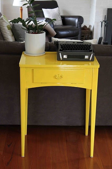 Gorgeous yellow table